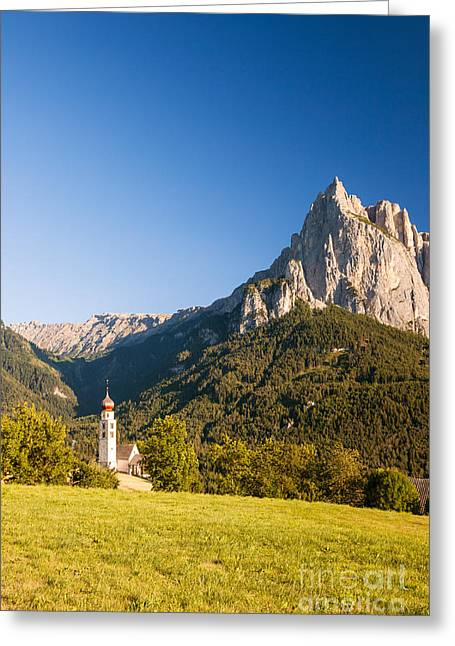 Italian Sunset Greeting Cards - Sciliar mountain - Val Gardena - Italy Greeting Card by Matteo Colombo