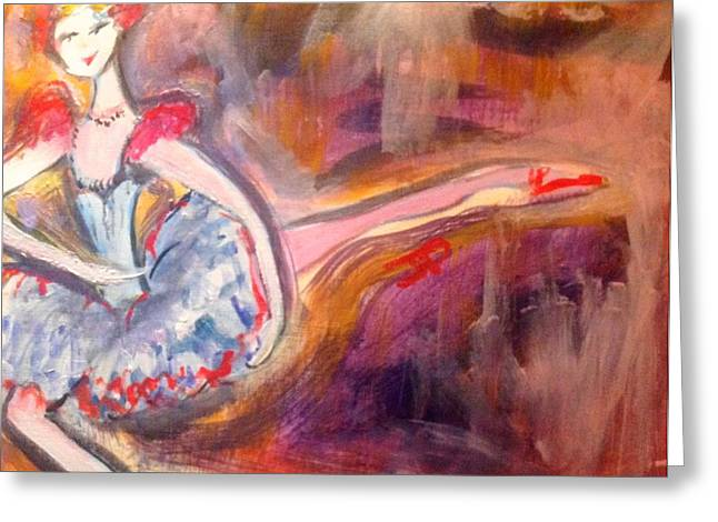 Sensational Paintings Greeting Cards - Scintillating starlet Greeting Card by Judith Desrosiers
