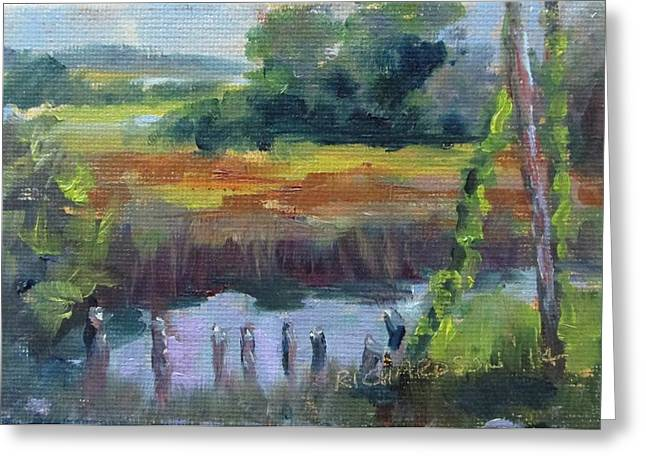 Apalachicola Seafood Greeting Cards - Scipio Creek Greeting Card by Susan Richardson