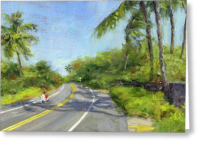 Lahaina Greeting Cards - Scooter Greeting Card by Stacy Vosberg