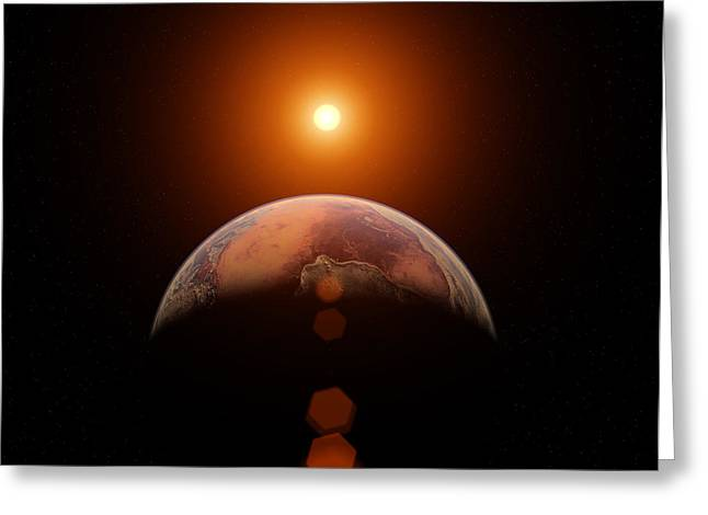 Planet Earth Greeting Cards - Scorched Earth Greeting Card by Brady Barrineau