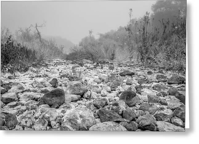 Resilience Greeting Cards - Scorched Rocks Greeting Card by Arnaldo Torres