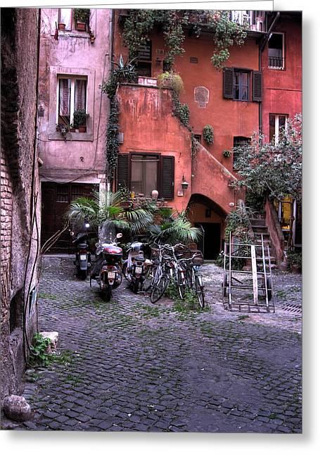 Scorcio Nascosto Di Campo Dei Fiori Greeting Card by Simone Micheli