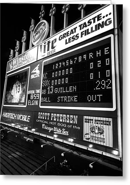Scoreboard In A Baseball Stadium, U.s Greeting Card by Panoramic Images