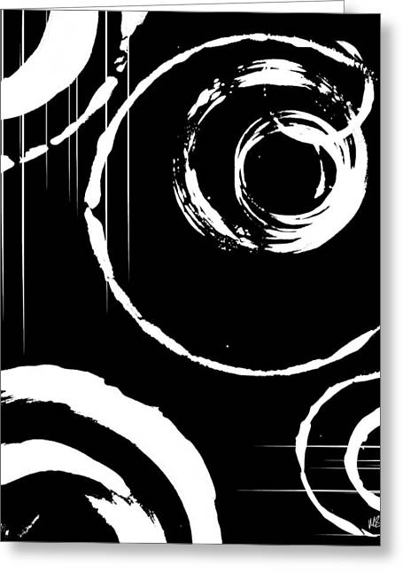 Geometric Digital Art Greeting Cards - Scorn Greeting Card by Melissa Smith
