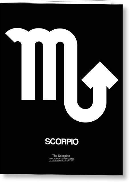 Signed Digital Greeting Cards - Scorpio Zodiac Sign White Greeting Card by Naxart Studio
