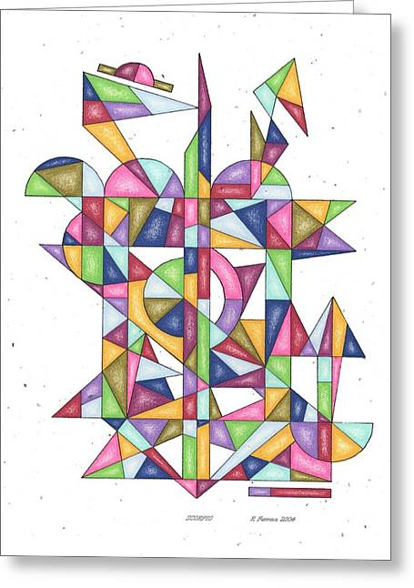 Sacred Drawings Greeting Cards - Scorpio Zodiac Symbol Greeting Card by Ruthie Ferrone