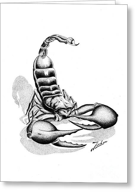 Valuable Drawings Greeting Cards - Scorpion Greeting Card by Joker  Gallery