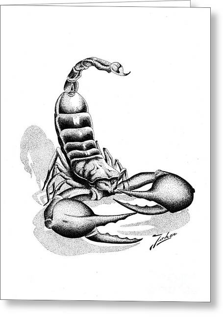 Scorpion Greeting Card by Joker  Gallery