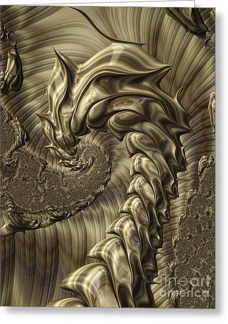 Metalic Greeting Cards - Scorpion Greeting Card by John Edwards