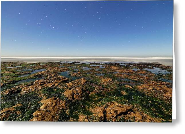 Scorpius Over Coast Greeting Card by Luis Argerich