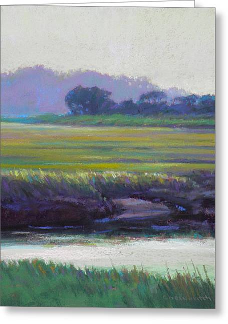 Cape Cod Pastels Greeting Cards - Scorton Banks Greeting Card by Ed Chesnovitch