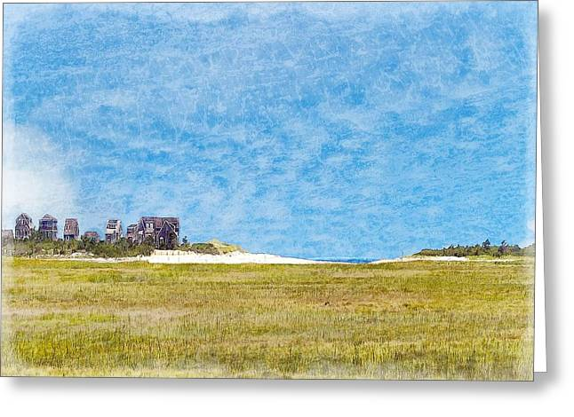 Tidal Creek Scene Greeting Cards - Scorton Creek Inlet Sandwich Cape Cod Greeting Card by Constantine Gregory