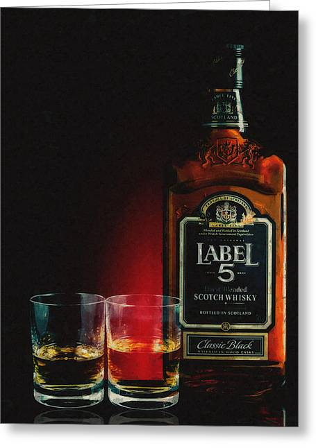 After Dinner Greeting Cards - SCOTCH for TWO Greeting Card by Daniel Hagerman