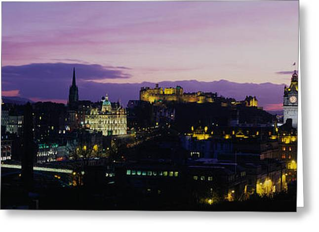 Historical Buildings Greeting Cards - Scotland, Edinburgh Castle Greeting Card by Panoramic Images