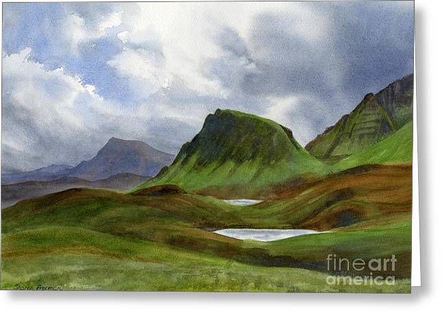 Mossy Greeting Cards - Scotland Highlands Landscape Greeting Card by Sharon Freeman