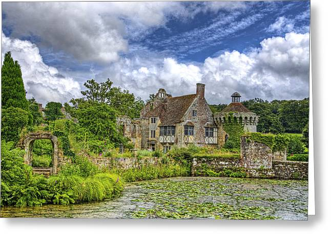 Historic Home Greeting Cards - Scotney Castle 3 Greeting Card by Chris Thaxter