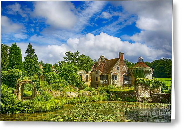 Historic Home Greeting Cards - Scotney Castle 5 Greeting Card by Chris Thaxter