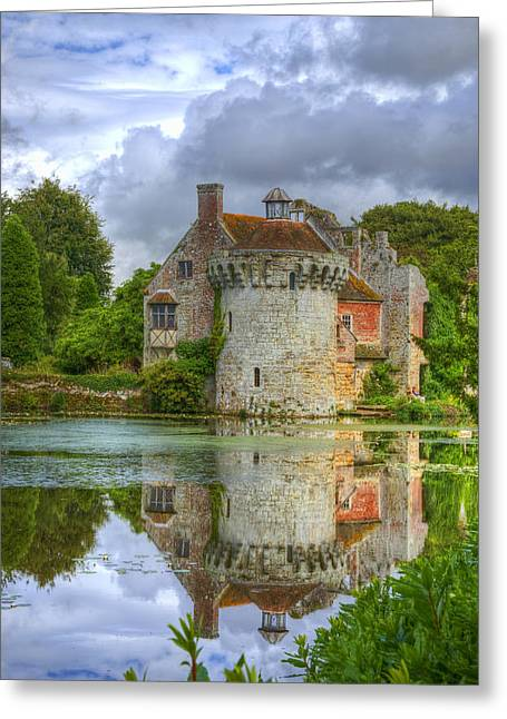 Scotney Castle Reflections Greeting Card by Chris Thaxter