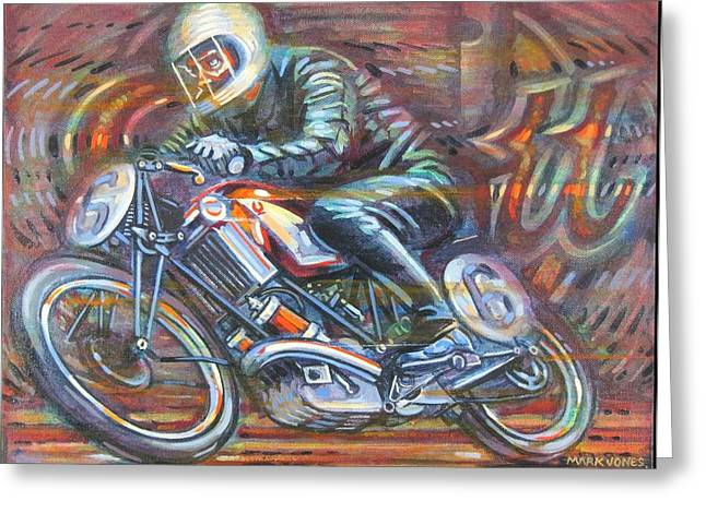 Hundred Miles Per Hour Greeting Cards - Scott 2 Greeting Card by Mark Howard Jones
