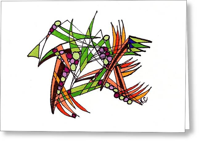 Destiny Drawings Greeting Cards - Scott Free Greeting Card by Kate Collver