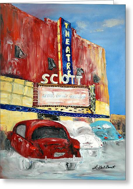 1953 Movies Greeting Cards - Scott Theatre Greeting Card by L Gail Garrett