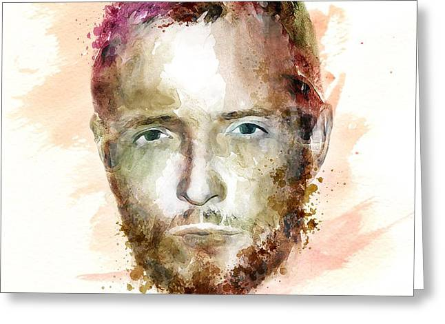 Sized Mixed Media Greeting Cards - Scott Weiland watercolor Greeting Card by Marian Voicu