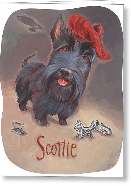 Monopoly Greeting Cards - Scotties Beaming Greeting Card by Shawn Shea