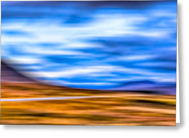 Britain Greeting Cards - Scottish Highland Landscape Abstract Greeting Card by Mark E Tisdale