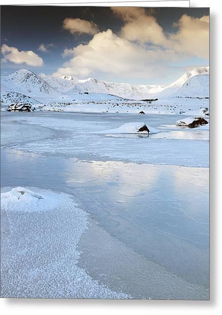 Glencoe Winter Landscape Greeting Cards - Scottish highland winter scene Greeting Card by Grant Glendinning
