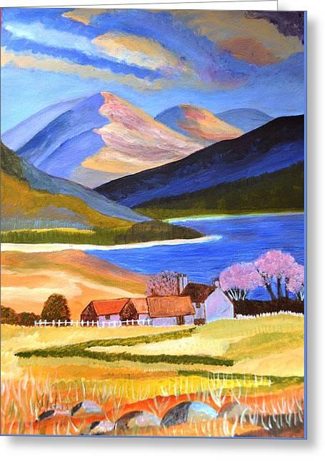 Scottish Highlands 2 Greeting Card by Magdalena Frohnsdorff