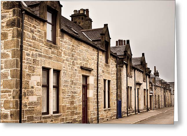 Townhouses Greeting Cards - Scottish houses Greeting Card by Tom Gowanlock