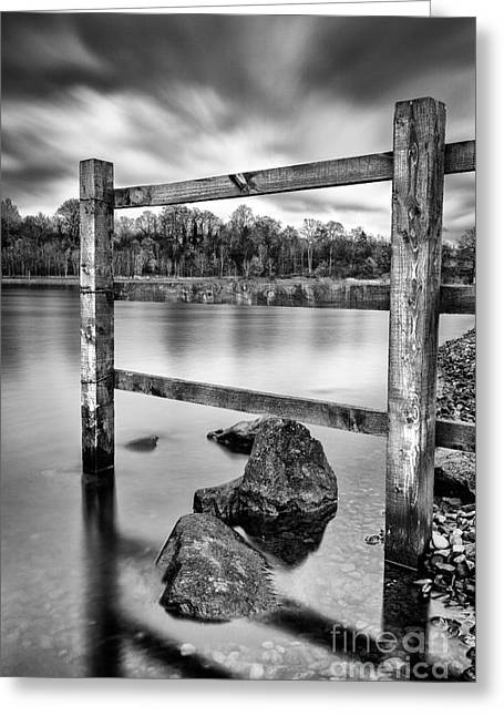 Scottish Loch Greeting Cards - Scottish Loch with Fence Greeting Card by John Farnan