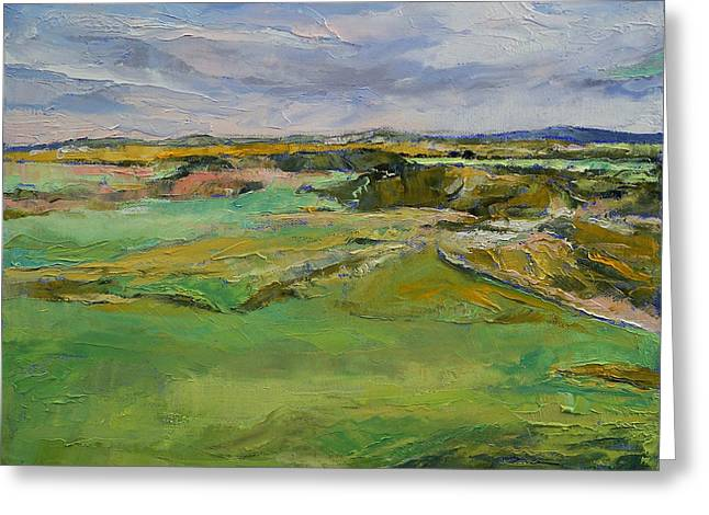 Scottish Paintings Greeting Cards - Scottish Lowlands Greeting Card by Michael Creese