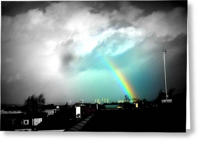 Rainbow Greeting Cards - Scottish Rainbow Greeting Card by Mlle Marquee