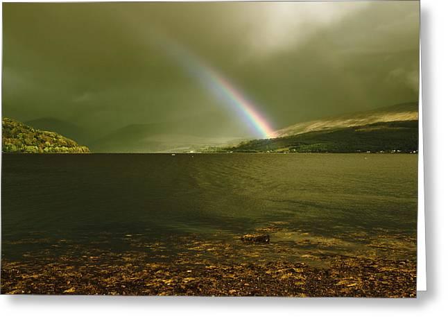 Jane Mcilroy Greeting Cards - Scottish Rainbow on Loch Fyne Greeting Card by Jane McIlroy