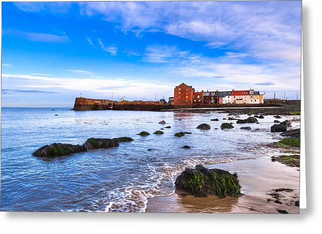 Habor Greeting Cards - Scottish Seascape At North Berwick Harbor Greeting Card by Mark Tisdale