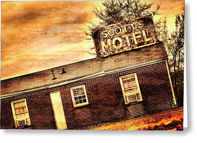 Layer Greeting Cards - Scotts Motel Greeting Card by A R Williams