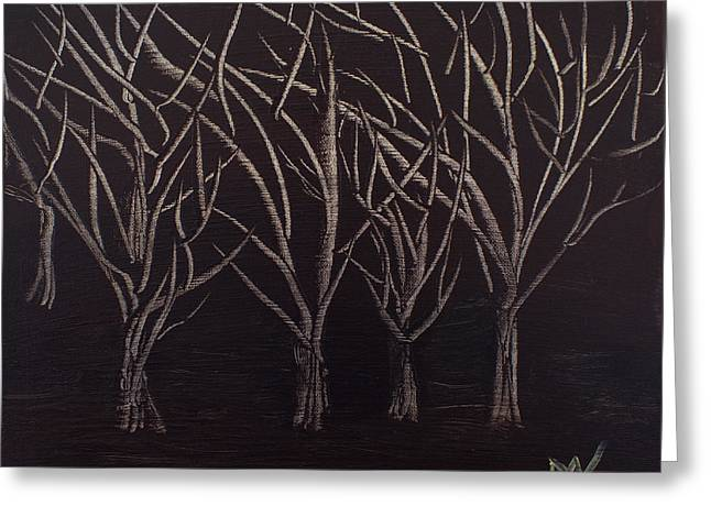 Exposure Paintings Greeting Cards - Scotts Trees Greeting Card by Maralea Norden