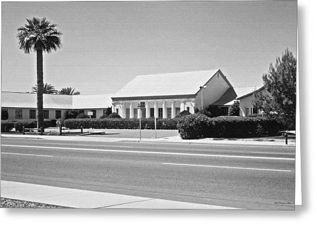Scottsdale Art School Greeting Cards - Scottsdale High School 1964. Scottsdale Arizona Greeting Card by Connie Fox