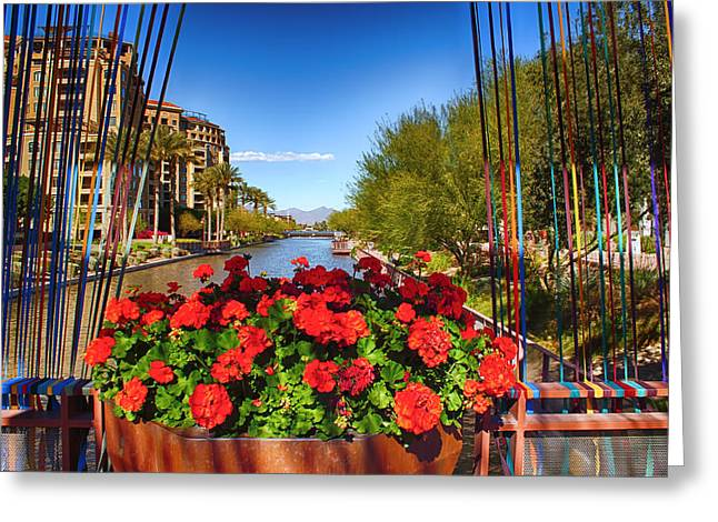 Urban Images Greeting Cards - Scottsdale Waterfront Greeting Card by Fred Larson