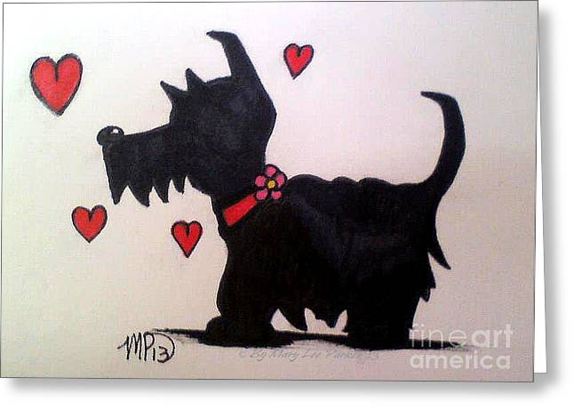 Scotty Dog Greeting Cards - Scotty Dog Greeting Card by MaryLee Parker