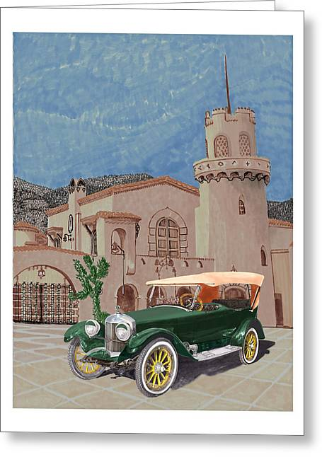 Three Speed Greeting Cards - Scottys Castle 1917 Premier Tourer Greeting Card by Jack Pumphrey