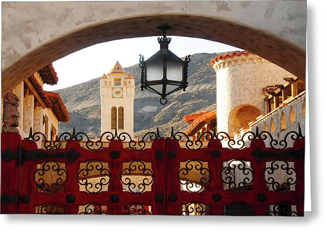Scotty's Castle, Grapevine Mountains Greeting Card by Michel Hersen