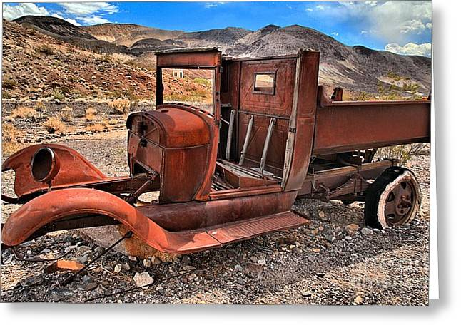 Old Trucks Greeting Cards - Scottys Truck Greeting Card by Adam Jewell