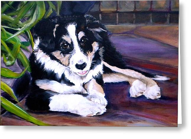 Medium Pink Greeting Cards - Scout Greeting Card by Debi Starr