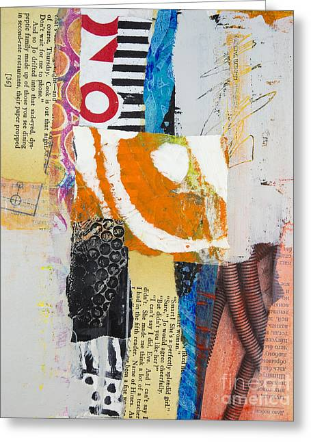 Geometric Art Greeting Cards - Scrambled Greeting Card by Elena Nosyreva