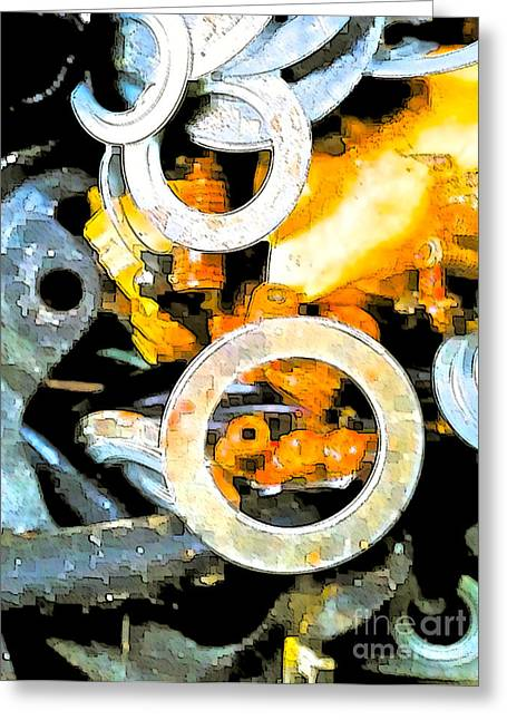 Junk Mixed Media Greeting Cards - Scrap Metal Junkie Greeting Card by Gwyn Newcombe