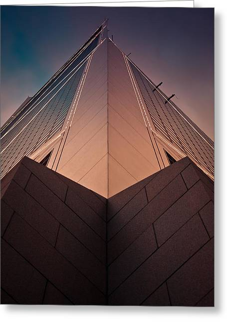 Symetrical Greeting Cards - Scraping The Sky #02 Greeting Card by Loriental Photography