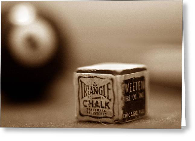 Sepia Chalk Greeting Cards - Scratch Shot Greeting Card by Mark Schoenfelt